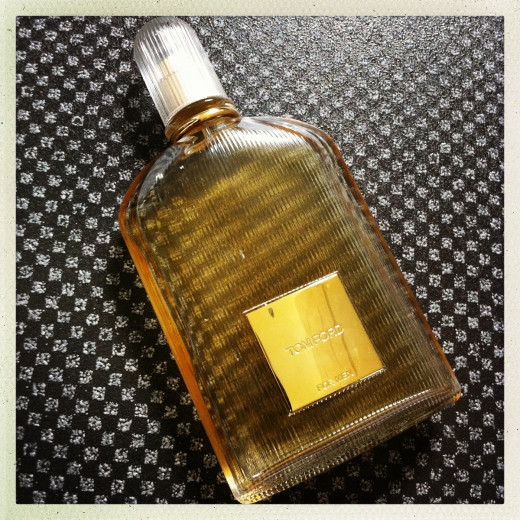 My bottle of Tom Ford for Men, laying down