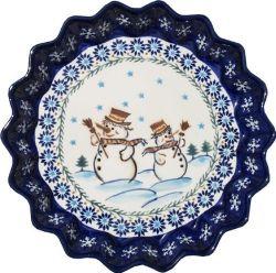Polish Pottery Quiche Dish