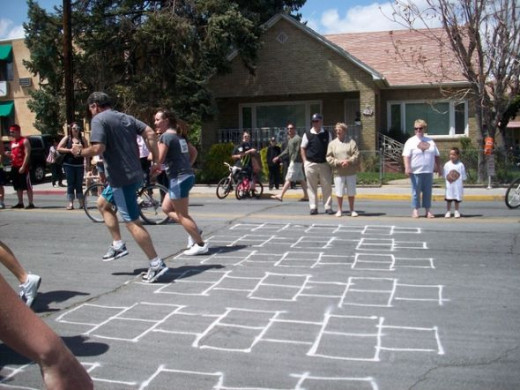 Hopscotch obstacle