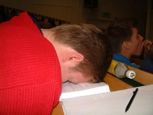 If you fall asleep during class ..