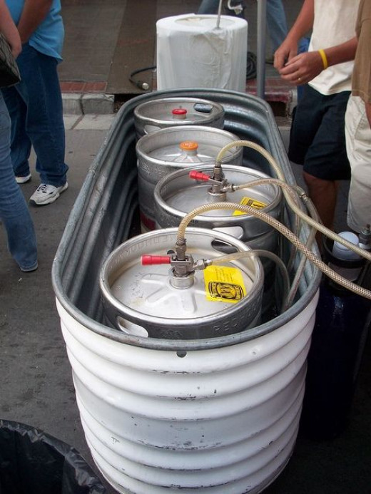 Kegs full of beer, everywhere at the Reno Nevada BBQ, Brews, and Blues Fest