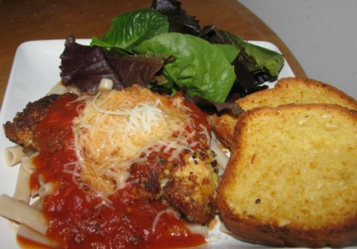 Gluten Free Chicken Parm Dinner