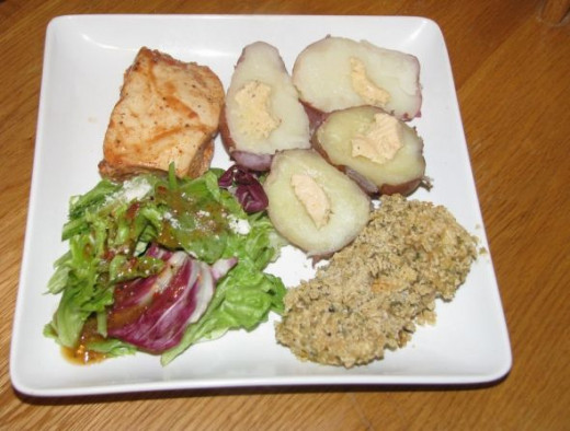 Chicken Two Ways - Low Cal Barbecue and Gluten Free Breading