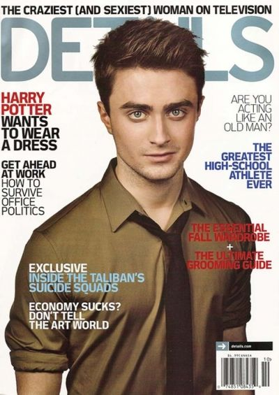 Front Cover of DETAILS magazine (September 2008)