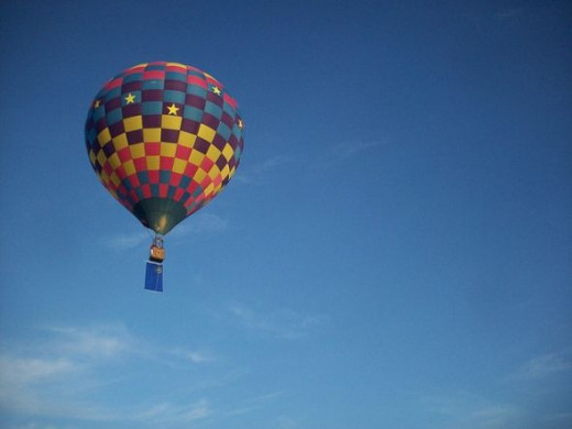 Hot air balloon with Nevada state flag