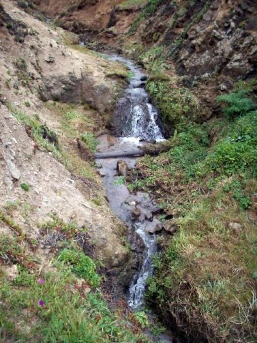 Small Waterfall Near the Beach