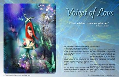 Voices of Love on The Eden Magazine -December 2012
