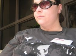 (Me hanging out on the patio at NAMS, an internet marketing event held in Atlanta, where I met up with Lisa in person)