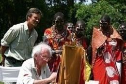 David Painting in Kenya