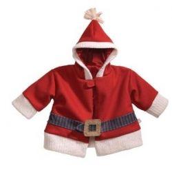 Gund Infant Soft Fleece Santa Coat with Hood