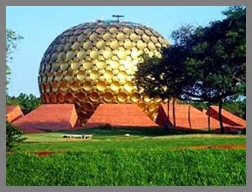 Matrimandir globe at Auroville
