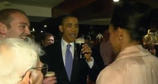 obama pint in moneygall
