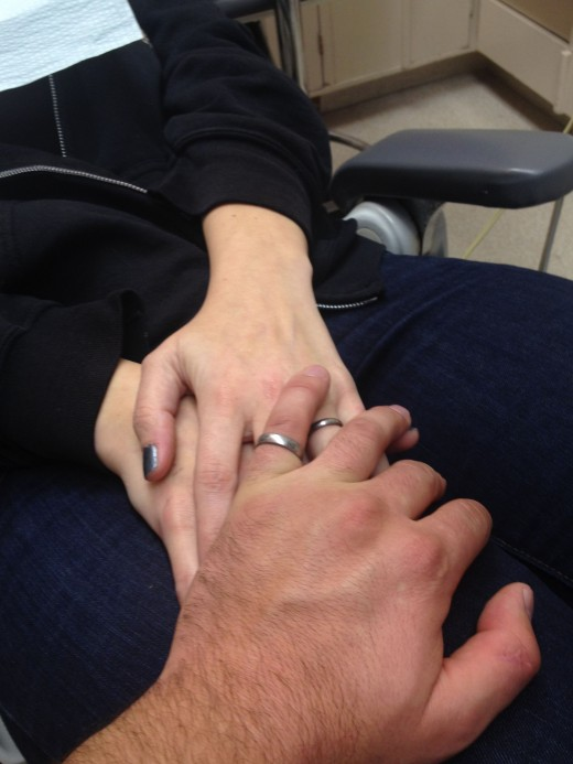 He holds my hand for dentist appointments.  All of them.