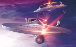 The Enterprise and Reliant battle in the Mutara Nebula