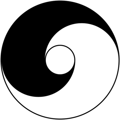Ancient version of the Taijitu by Lai Zhi-De