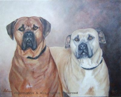 A gift to my nephew and his wife...these two dogs are adored and loved...two very lucky.