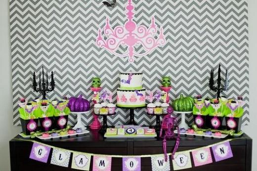 Glamorous Halloween Dessert Table