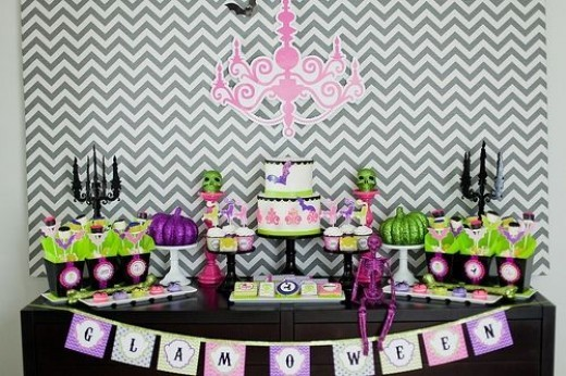 Glamorous Halloween Dessert Table