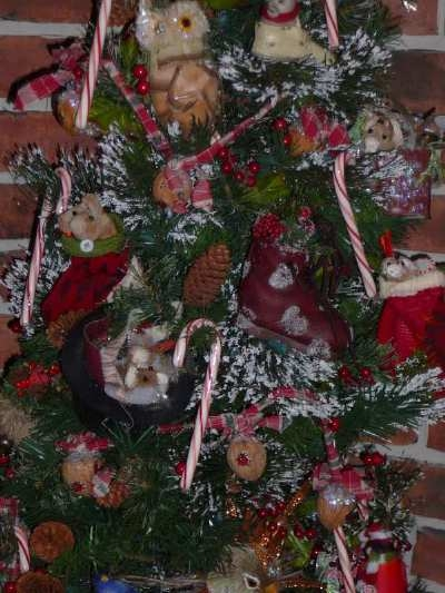 This is my mouse tree, I made every ornament on this tree.