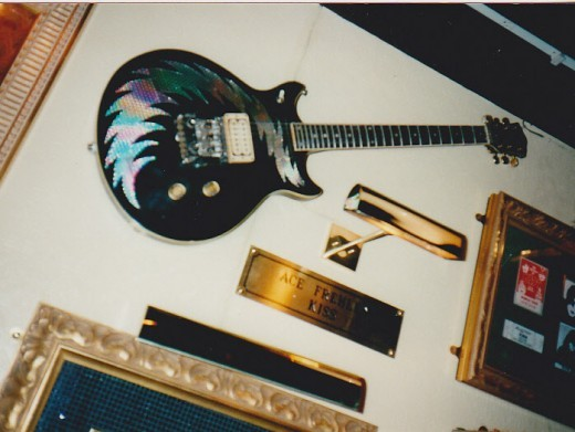 Hard Rock Cafe wall of Fame (as I call it) Ace Frehley's guitar from Kiss