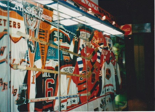 Hockey Hall of Fame All Star Jersey display