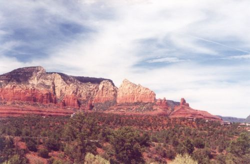 From a side road just south of Sedona.