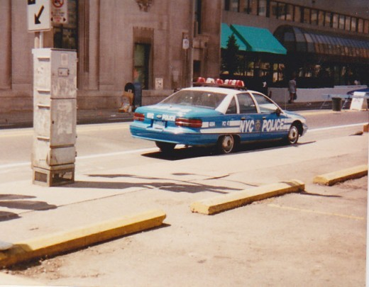WHY is a NYC police car in Toronto? am I in the right place?? They were filming some movie or tv show we think called FX
