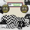 NASCAR Party Tips, Checkered Flag Party Supplies, Race Car Birthday Cake Ideas