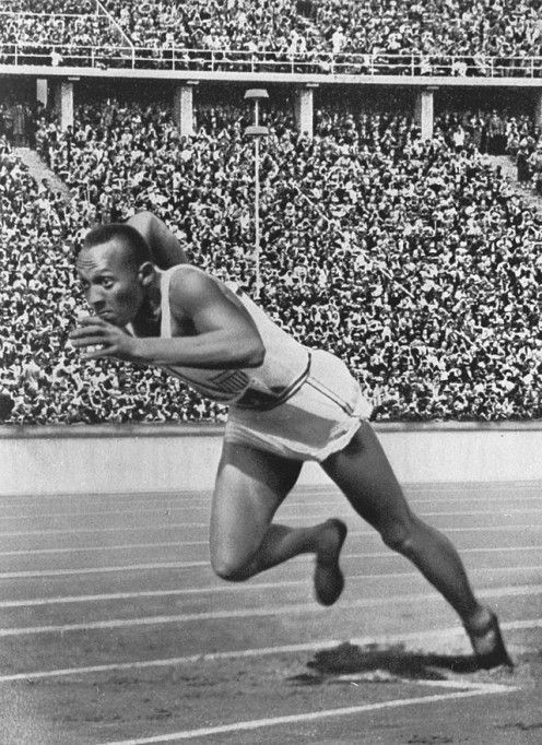 Owens at the 1936 Olympics