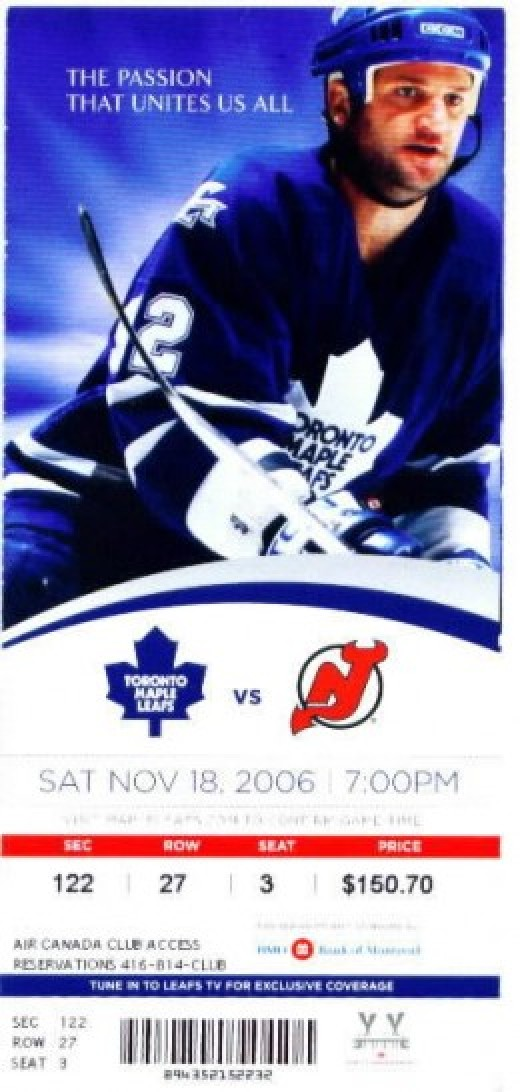 scan ©Toronto Maple Leafs season tick feat. Jeff O'Neil