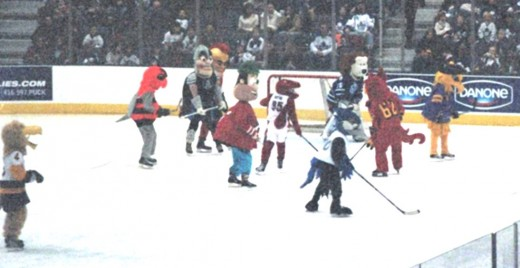 Other team mascots playing