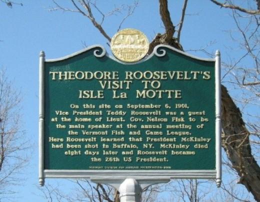 Teddy Roosevelt's Visit to Isle La Motte
