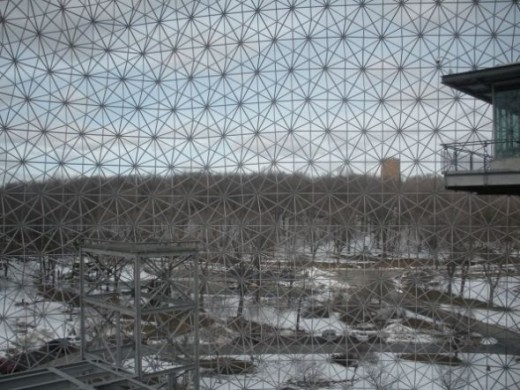 Montreal Biosphere Looking Out
