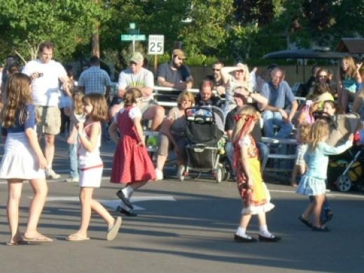 Children Dancing at Village Bandstand