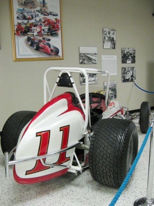 Indy cars aren't the only ones represented at the Museum. This is a sprint car.