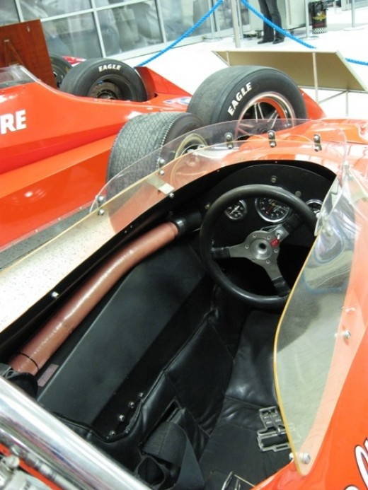 This is the Coyote Ford that AJ won in at Indy in 1967. His third of four wins.