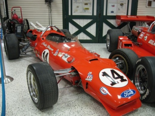 This is AJ Foyt's 1967 Indianapolis 500 winner.  It's a Coyote Ford.