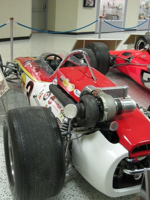 "This is an Eagle-Offy. Bobby Unser won in 1968 with this. Paul Newman's car in the movie ""Winning"" was based on this car."