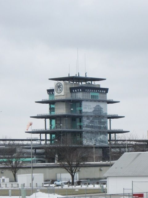 A look at the Pagoda/tower. Timing and scoring occur here.