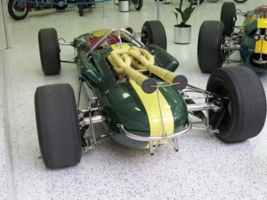 This is Jimmy Clark's 1965 winning Lotus Ford.