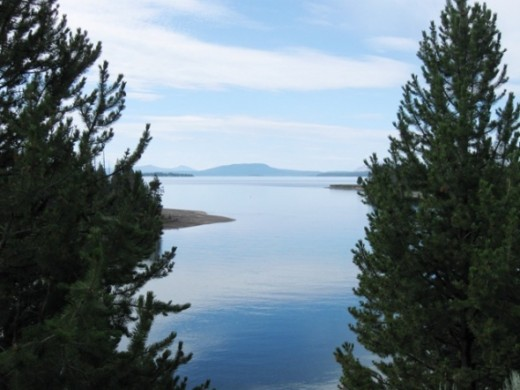 A view of Yellowstone Lake on an August morning