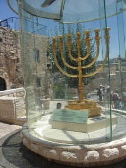 Jewish Menorah is ready for the rebuilt temple.