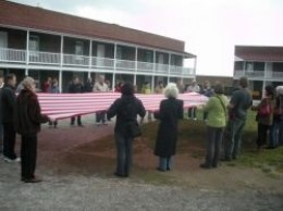 Folding The Fort McHenry Flag