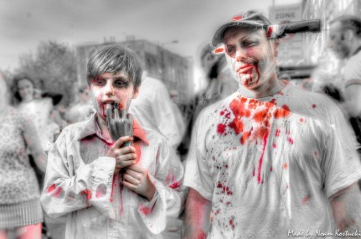 Father and son, zombies forever! by noamkos [CC BY-SA 2.0 (http://creativecommons.org/licenses/by-sa/2.0/deed.en_CA)] on Flickr