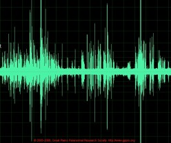An EVP is an Electronic Voice Phenomenon that can only be picked up through the use of electrical recording devices