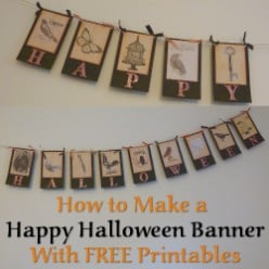 Make a Happy Halloween Banner with Free Printables