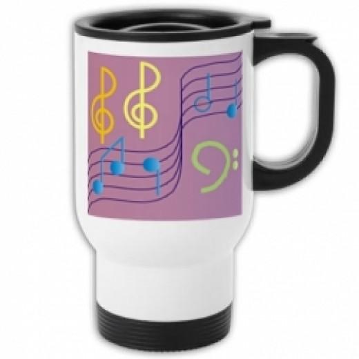 Musical Notes Travel Mug