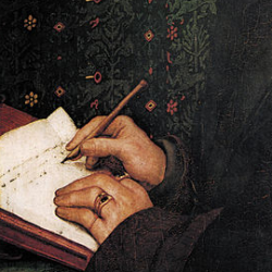 Portrait of Erasmus von Rotterdam, detail