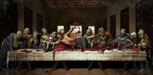 12 Zombies feasting