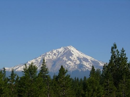 Lassen National Park is in the north-eastern section of California and features a sleeping volcano.